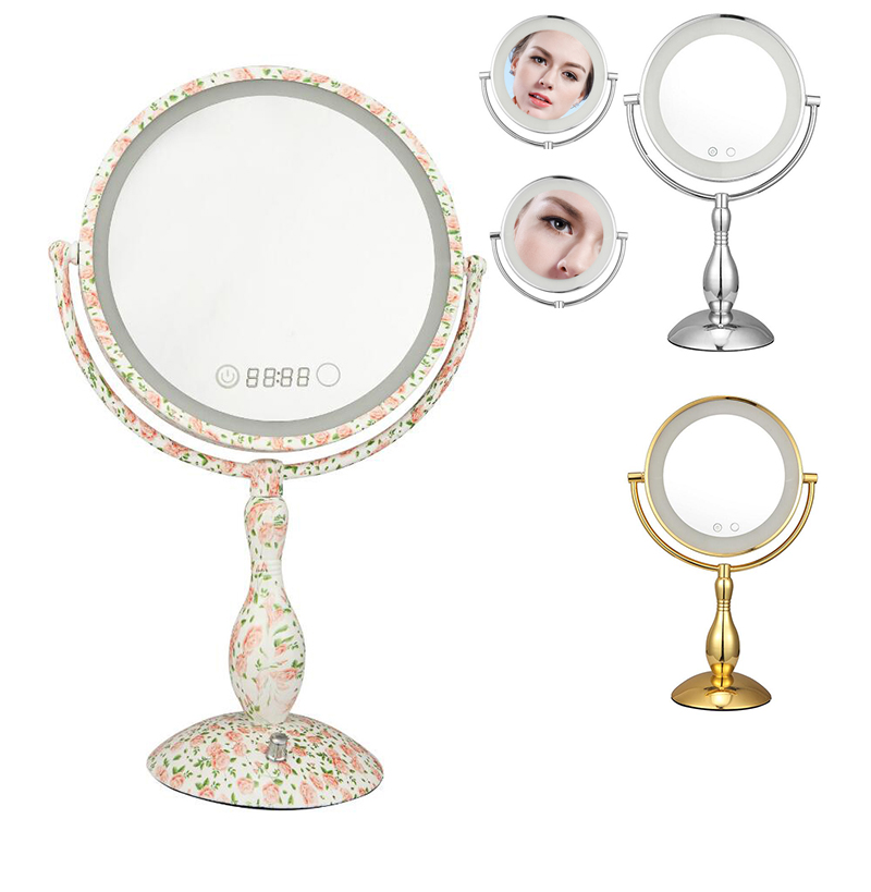 Здесь продается  Dimmable LED Double Sided Table Mirror with light 12 Inch led cosmetic mirror lady
