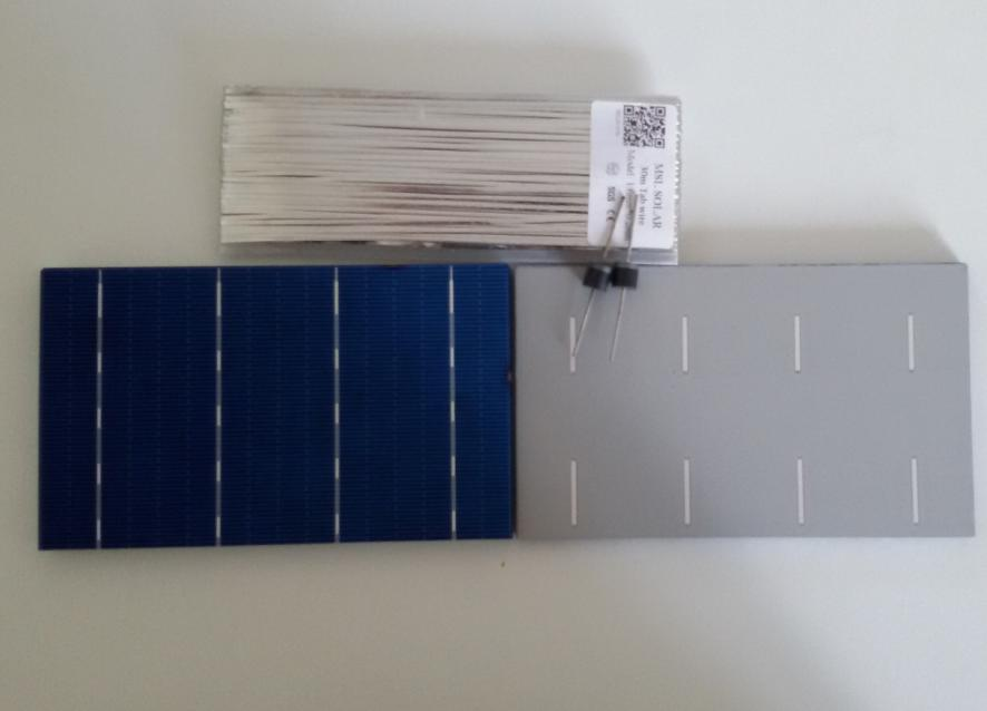 MSL SOLAR Kit 36pcs 3.7 x 6 A Grade solar Panel cells + Tabbing WIRE + Diodes. 2.5W/piece 0.5V Free shipping