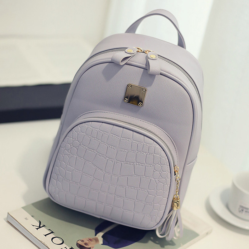 07094bf04b Dropwow EnoPella women backpack leather school bags for teenager ...