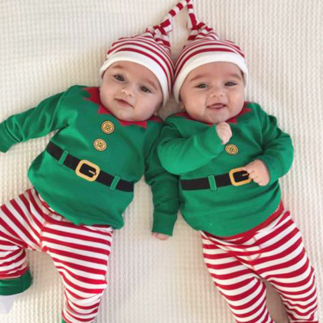 MUQGEW baby boy clothes newborn christmas 3Pcs Infant baby christmas outfits  kids clothes Romper+Pants - MUQGEW Baby Boy Clothes Newborn Christmas 3Pcs Infant Baby Christmas
