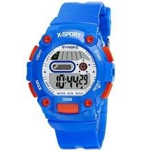 Детская светодиодный цифровые часы спортивные детские мультики Водонепроницаемый Световой Наручные часы @ 17 TT @ 88