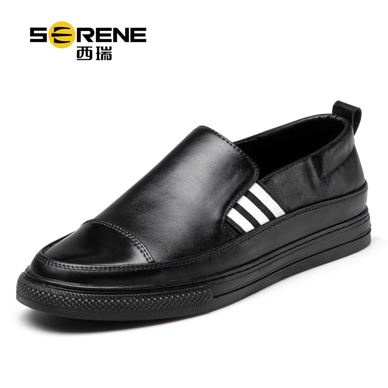 Men Loafers Black Sneakers Slip-on Breathable Casual Men Shoes Anti-Slip School Shoes Teenager Boys Autumn Shoes Casual Footwear
