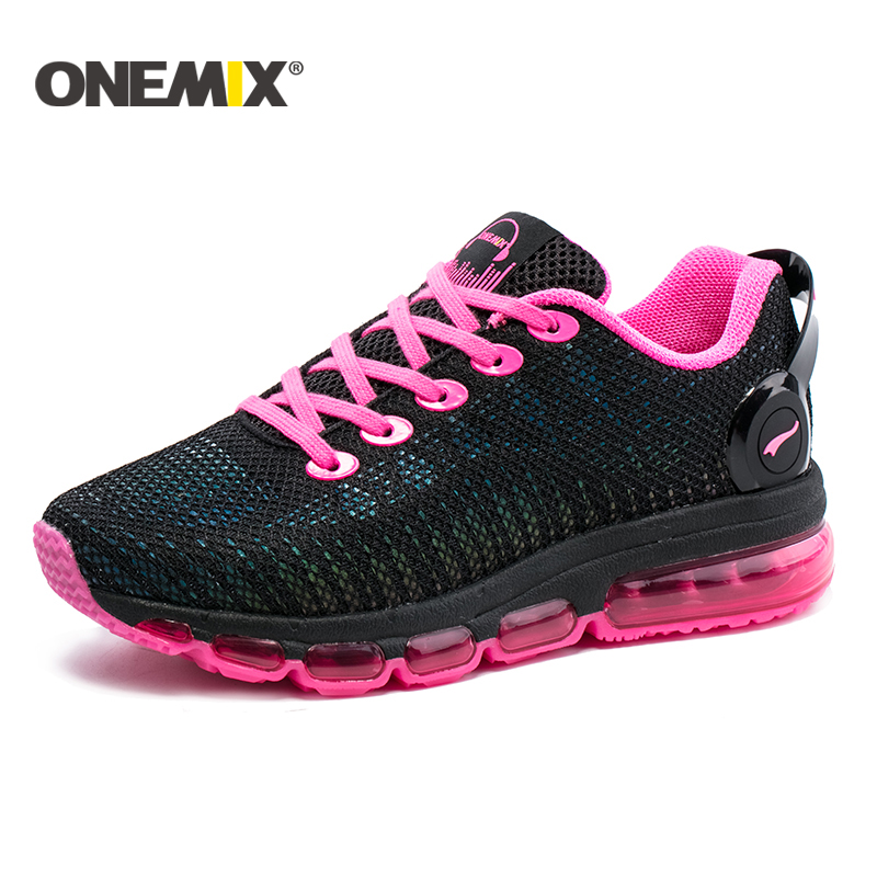 Onemix new running shoes for women sneakers lightweight colorful reflective mesh vamp outdoor sports jogging walking