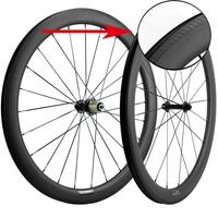 Juego de ruedas para Clincher de carbono 700C con superficie de frenado especial en forma de U ruedas de bicicleta de carretera de carbono