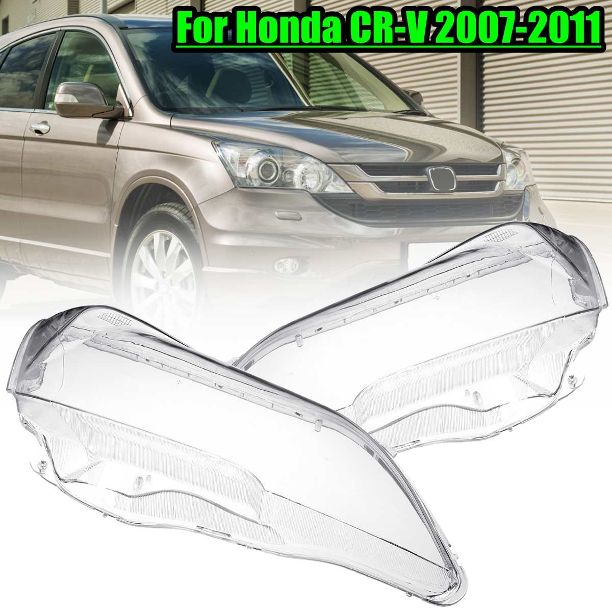1pcs/2pcs Transparent Front Lamp Hood Headlight Left & Right Lens Shell Cover For Honda CRV 2007 2008 2009 2010 2011
