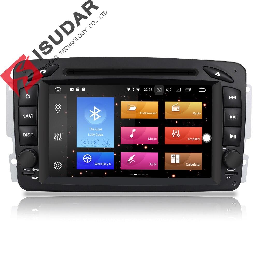 Isudar Voiture lecteur multimédia Android 8.0 GPS 2 Din autoradio Lecteur DSP Pour Mercedes/Benz/W209/W203/ viano/W639/Vito FM Radio