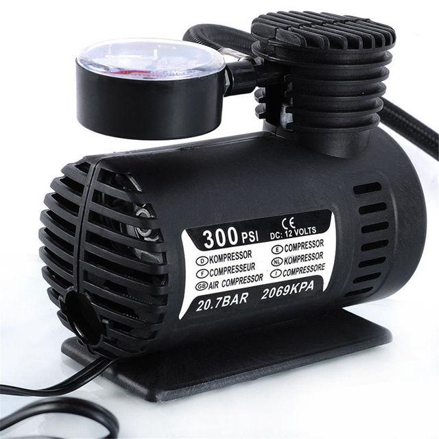 Universal 12v mini portable mini air compressor 300 psi - Compresseur 12 volts ...
