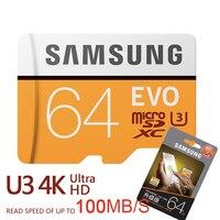 SAMSUNG Новый U3 Micro SD 256 GB/128 GB/64 GB SDXC U1 32 GB/16 GB SDHC Class10 TF карты памяти CF C10 Microsd флэш-карт Доставка