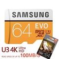 SAMSUNG New U3 Micro SD 256GB/128GB/64GB SDXC U1 32GB/16GB SDHC Class10 TF CF Memory Card C10 Microsd Flash Cards Shipping