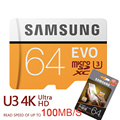 SAMSUNG nuevo U3 Micro SD 256 GB/128 GB/64 GB SDXC U1 32 GB/16 GB SDHC Class10 TF tarjeta de memoria CF C10 Flash Microsd de envío