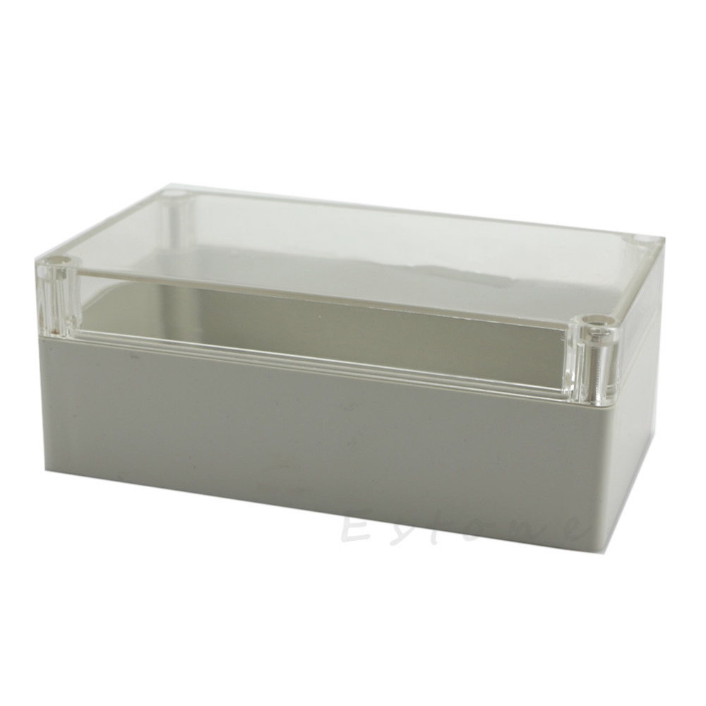 Clear Electronic Waterproof Project Box Enclosure Plastic Cover Case 158x90x60mm L15 4pcs a lot diy plastic enclosure for electronic handheld led junction box abs housing control box waterproof case 238 134 50mm