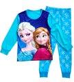 Meninos Meninas Sleepwear Conjuntos de Pijama Roupa Do Bebê Roupa Das Crianças Set Crianças Pijamas Meninas Snow Queen Elsa Anna Princesa Pijamas set