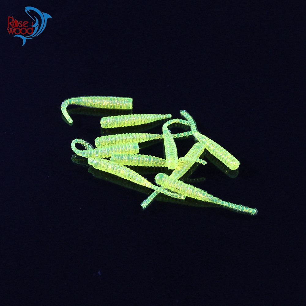 200PCS 4cm0.3g Bass Fishing Worms 10 Colors Silicone Soft Plastic Fishing Lures Artificial Bait Rubber in Jig Head Hook Use (33)