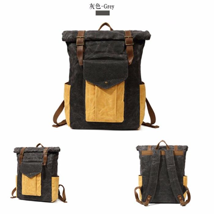 Sac à dos Vintage unisexe hommes sacs de voyage sac en toile Mochila Masculina sacs à dos d'ordinateur portable femmes sac d'école pour adolescent sac à dos