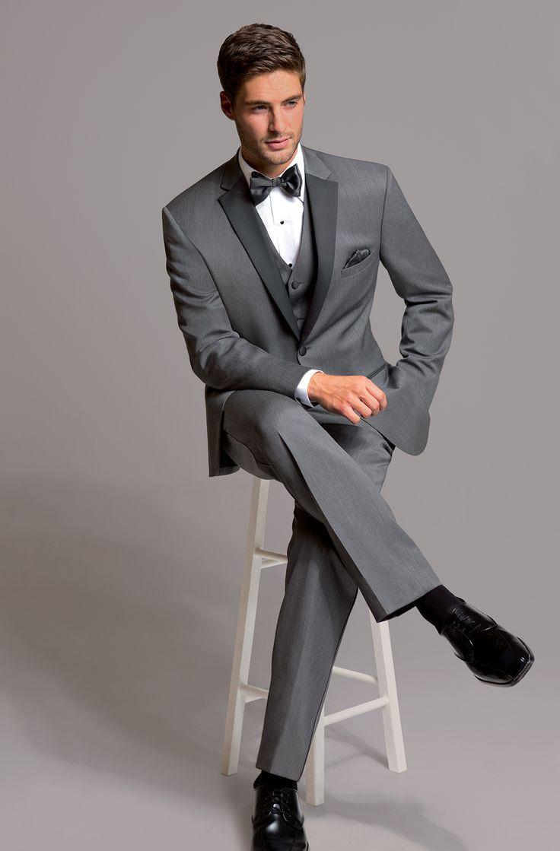 Latest Coat Pant Designs Grey Formal Wedding Suits For Men Custom Best Man 3 Pieces Slim Fit Tuxedo Jacket+Vest+Pants 279
