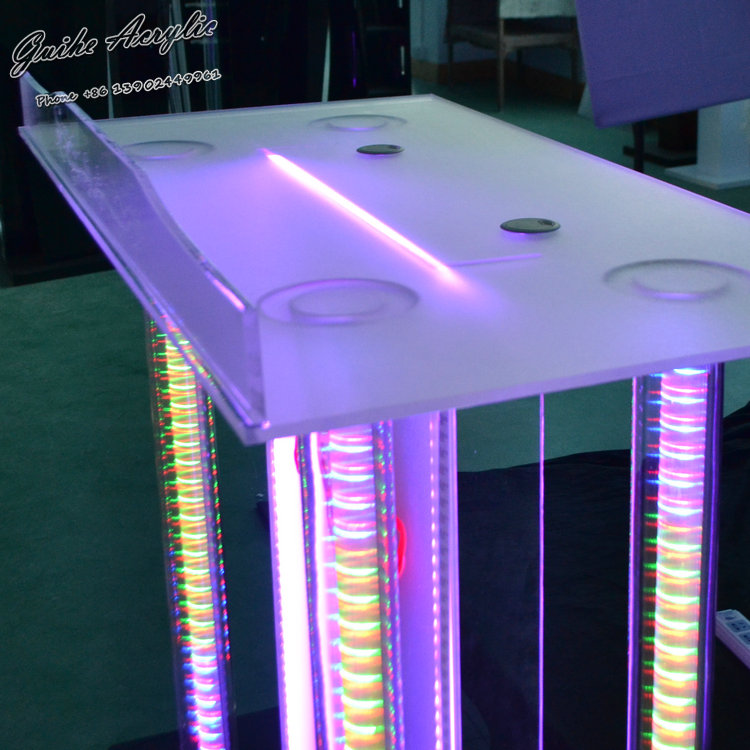Cheap High Quality Acrylic Material Led Lighting Dj Booth For