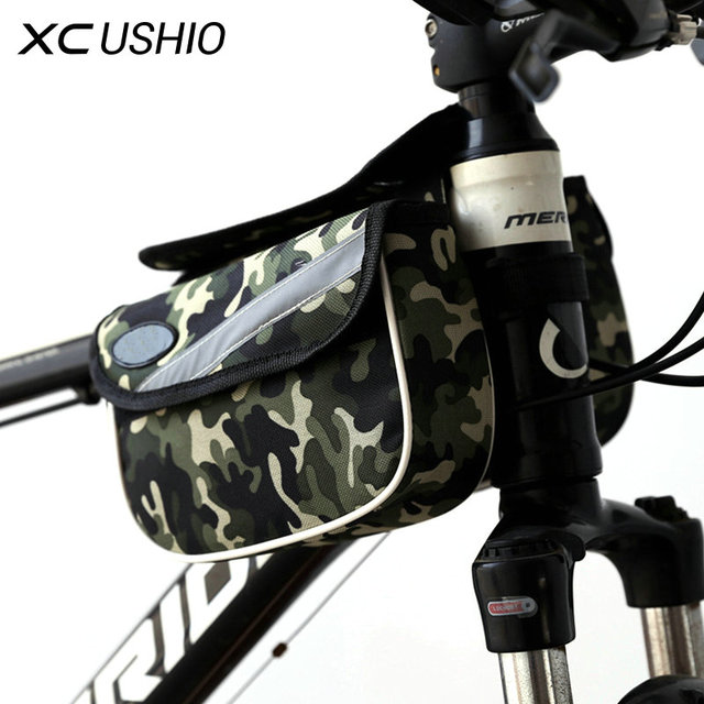 2l Waterproof Mountain Bike Cycling Front Tube Frame Bag Double