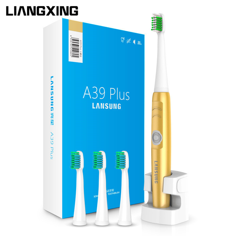 LIANGXING 2017 New Chargeable Electric Toothbrush Wireless Charge Ultrasonic Sonic Electric Tooth Brush 4 Heads Teeth Brush new arrival ultrasonic electric toothbrush oral hygiene chargeable wireless charge sonic brush tooth brush teeth 3 heads