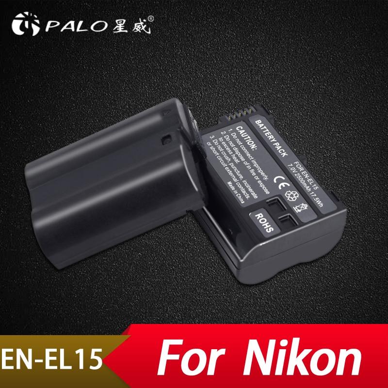 Digital Batterien Batterien Gewidmet Palo 2 Pcs 2500 Mah En-el15 Enel15 En El15 Decodiert Kamera Batterie Für Nikon Dslr D600 D610 D800 D800e D810 D7000 D7100 D7200 Farben Sind AuffäLlig