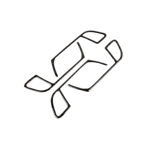 Image 2 - アウディ A4 B8 2009 2010 2011 2012 2013 2014 2015 2016 炭素繊維ドアハンドルパネルドアボウルフレームカバーステッカートリム