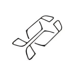 Image 2 - For Audi A4 B8 2009 2010 2011 2012 2013 2014 2015 2016 Carbon Fiber Door Handle Panel Door Bowl Frame Cover Sticker Trim