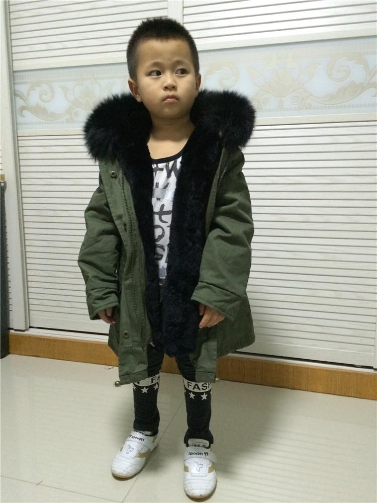 Little สาว/เด็กขนสัตว์ parka จริง fox ขนสัตว์แท้ขนสัตว์ outwear-ใน ขนสัตว์จริง จาก เสื้อผ้าสตรี บน   2
