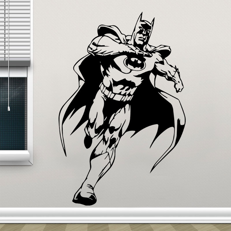 Justice League Batman Superhero Vinyl Wall Sticker Home Decor For Childrens Room Kids Bedroom Wall Decal Removable Poster F809 ...