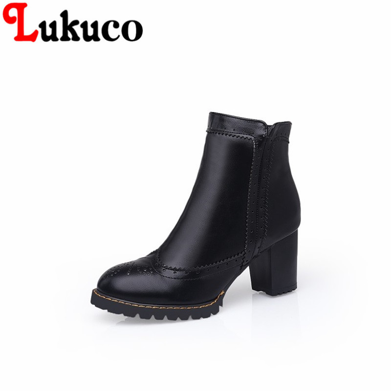 2017 new concise and Retro style Round Toe shoes big size 34 to 47 Ankle Boots high quality low price super bargain women boots super bargain new model new steampunk army man