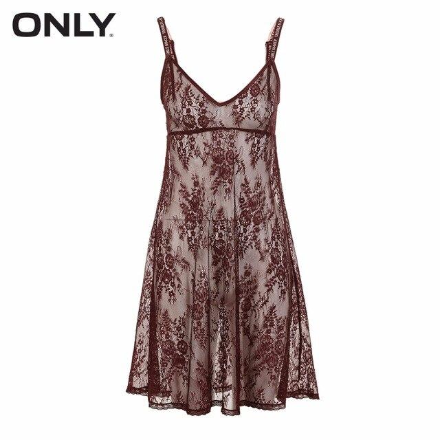 Robe à bretelles en dentelle ONLY | 118161543