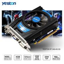 Yeston Radeon R7 200 Series R7 240 GPU 4GB GDDR5 128bit Gaming Desktop PC Video Graphics