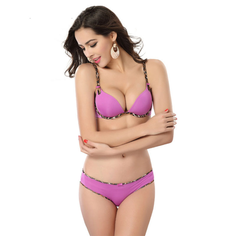 0b9dacd9e Sexy Soft Brief   Smooth Bra Set Women Brand Designer 3 4 Cup Sutia Bras  Push Up Lingerie Set 5 Color Size A~C WI300-in Bra   Brief Sets from  Underwear ...