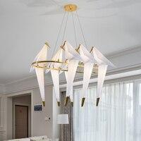 2018 Modern LED Chandeliers Bird For Living Room lamparas de techo Indoor Lamp Light Fixture luminaires suspendus lustre