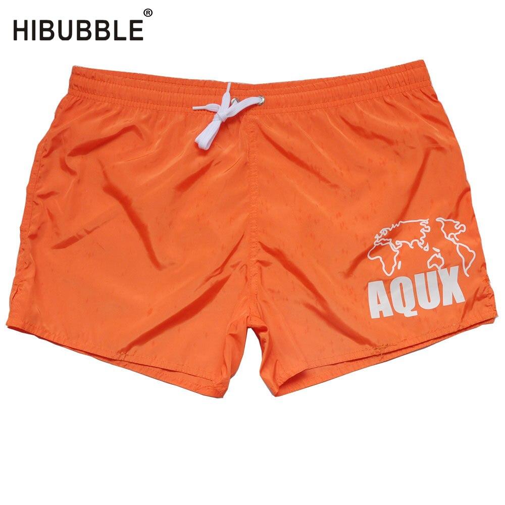 HIBUBBLE Mens Swimwear Short Bath-Suit Gay Hot Surf Pocket Summer