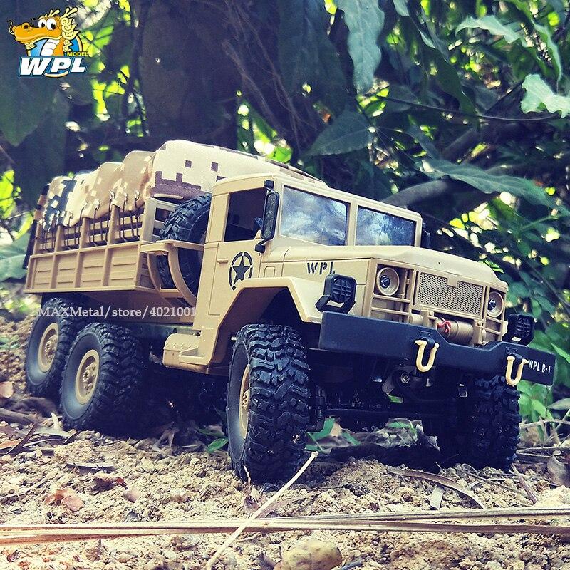 WPL B16 B-16 1:16 RC camion WPL RC voiture sur chenilles 6WD 2.4G Mini voiture télécommandée tout-terrain 15 km/h Mini camion monstre RC à grande vitesse