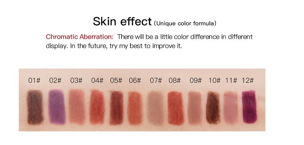 12 Colors Matte Lipstick Sexy Nude Lip Liner Waterproof Long Lasting Pigment Lipliner Lipstick Pencil Lips Tools 6