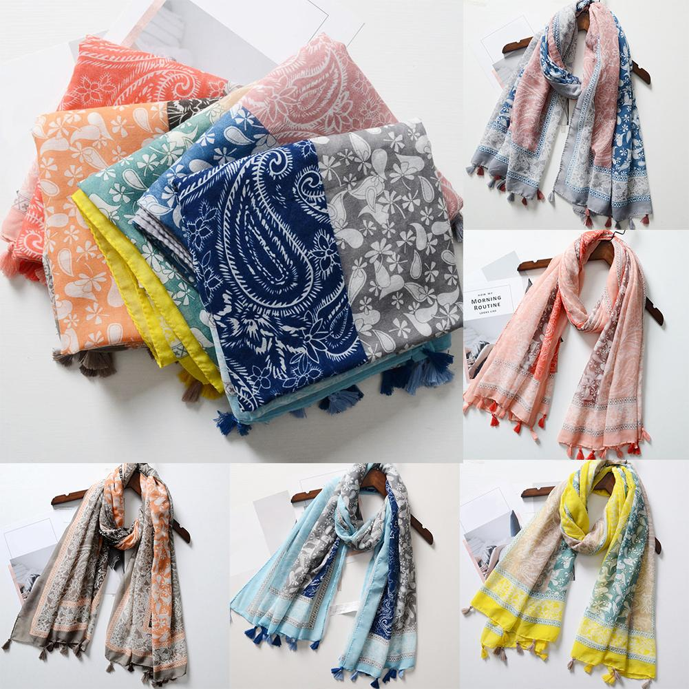New Fashion Vintage Chic Bohemian Splicing Color Women Scarf Shawl Vacation Sun Protection Beach Towel