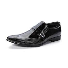 DYANMIC Summer New Men Slip-on Dress Shoes Male Formal Wedding Oxfords Original Handmade Business Shoes Sapatos Masculino