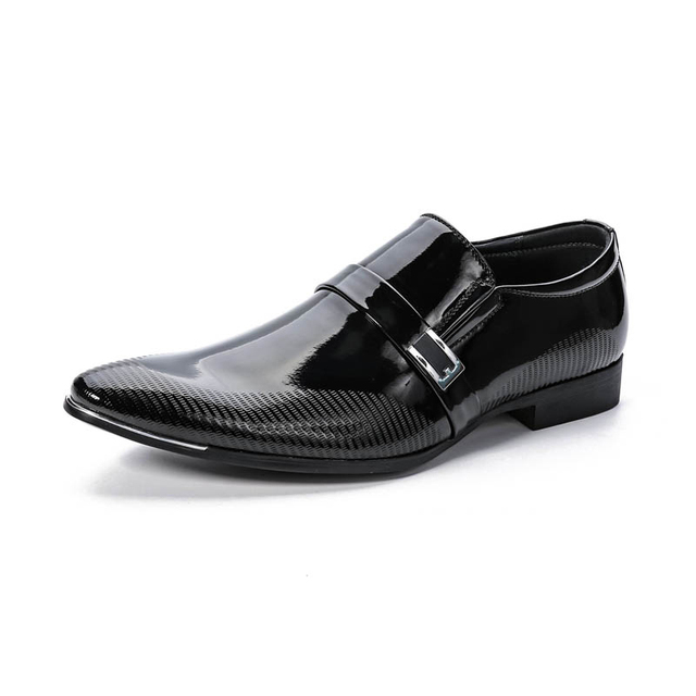 DYANMIC Summer New Men Slip-on Dress Shoes Male Formal Wedding Oxfords Original Handmade Business Shoes Sapatos Masculino
