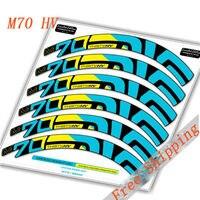Vtt 27.5 pouce Vélo deux roues ensemble jante Autocollants pour VTT M70 HV yeti Santa Cruz dirt vélo stickers livraison gratuite