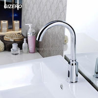 GIZERO Free Shipping Automatic sensor tap Hands Touch Free Faucet water saving Inductive electric Water Tap battery power ZR6103
