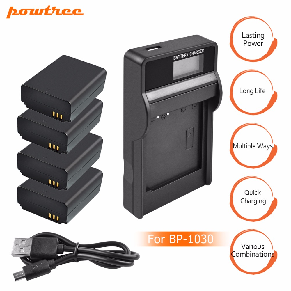 4Packs BP1030 Li-ion Battery 7.4V 1030mAh+1Port Battery <font><b>charger</b></font> with LED for <font><b>SAMSUNG</b></font> NX200 NX210 <font><b>NX1000</b></font> image