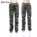 2017Spring summer Camouflage Cotton Pants Women Camouflage Cargo Pants Women Military trousers Fashion Casual Loose Baggy Pants