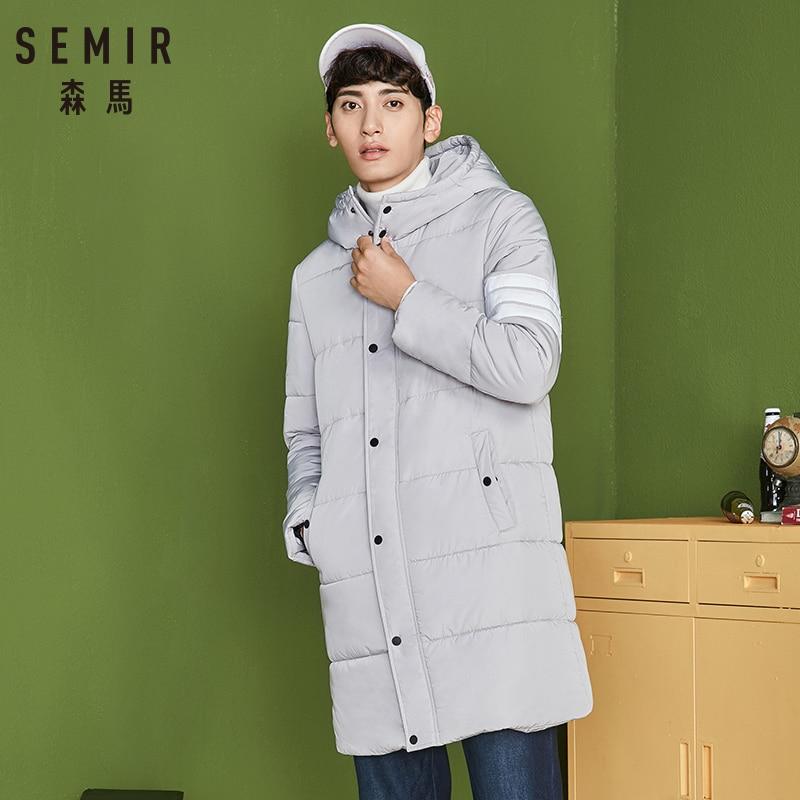 SEMIR 2018 Top Quality Warm Men's Warm Winter Jacket Windproof Casual hooded Outerwear Thick Medium Long Coat Men   Parka