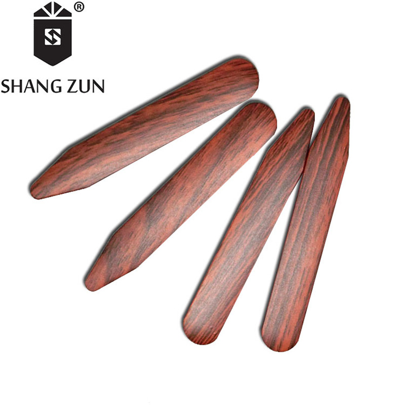 SHANH ZUN 14 Pcs Water Transfer Printing ABS Collar Stays Manufacturers Wholesale Plastic Collar Stays Multicolour Shirt Collar