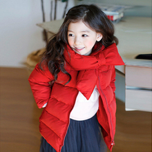 Unisex Kids Winter Parka Warm Coat for Girl 2016 Winter Kids Warm Parka O neck Thick