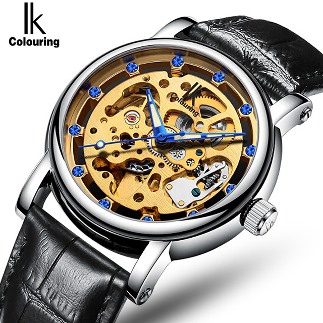 Genuine IK Brand Automatic Machinery Men Watch High Quality Tourbillon Hollow Style Fashion Watch Male 100% Natural Leather 4302 free drop shipping 2017 newest europe hot sales fashion brand gt watch high quality men women gifts silicone sports wristwatch