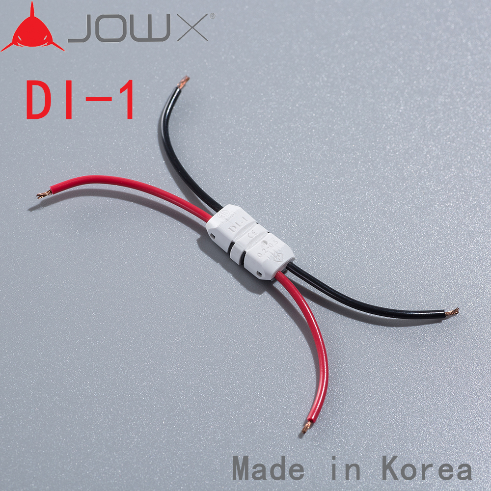 DI-1 100PCS Quick Splice Wire Wiring Connector 23-20 AWG 0.3-0.5mm Dual LED Strip Wire Cable Electrical Crimp Terminal Conductor