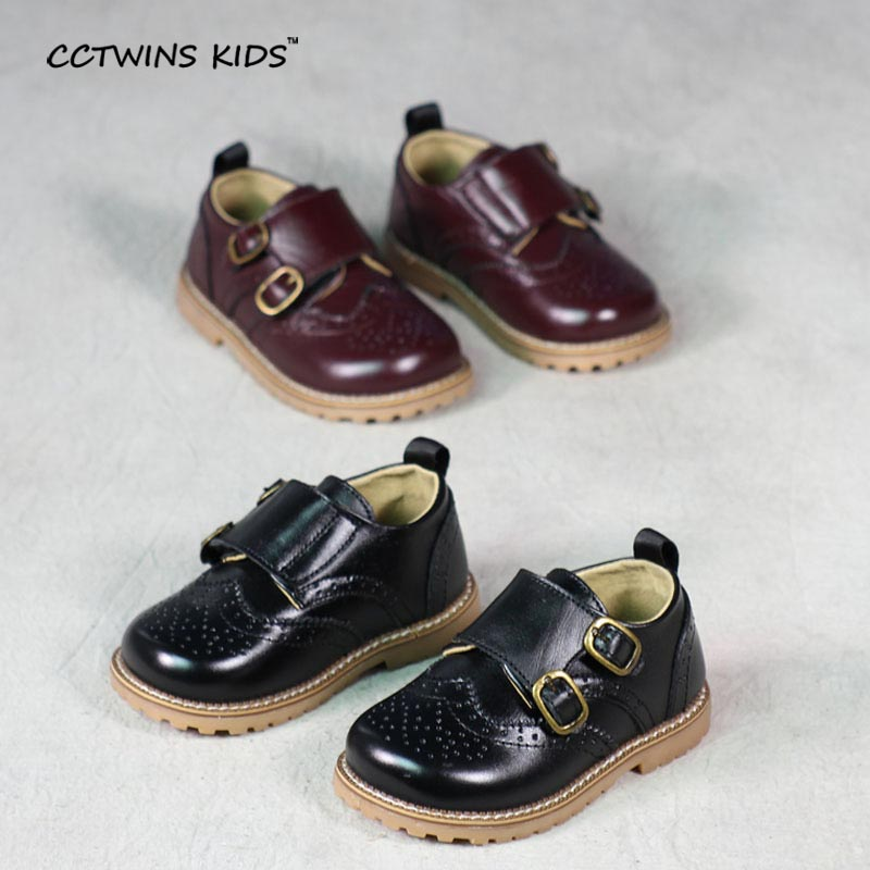 CCTWINS-KIDS-2017-spring-autumn-child-pink-flat-genuine-leather-toddler-fashion-shoe-baby-girl-brand-loafer-oxford-white-G9771-5