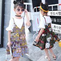 Summer Wear Child Suit New Pattern Girl Small Shivering CamisoleTwinset Korean Child Fashion Suit 2 Pieces