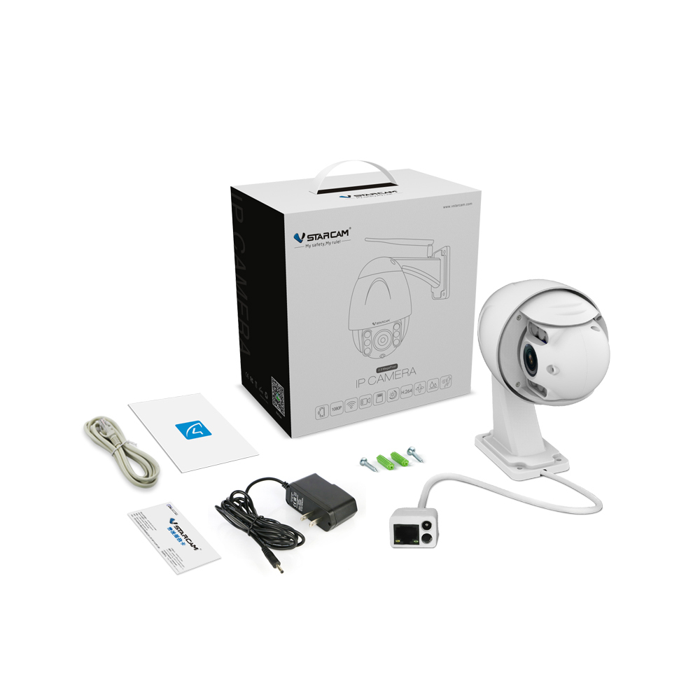 VStarcam C34S X4 Wireless PTZ Dome IP Camera Wifi Outdoor 1080P HD 4X Zoom CCTV Security